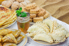 Cookies and tea Stock Images