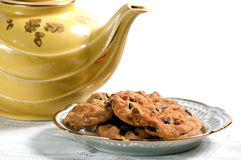 Cookies and teapot Stock Photo