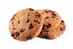 Cookies. Three cookies on white background Stock Photography