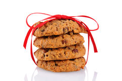 Cookies Tied With a Red Ribbon royalty free stock image