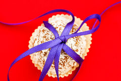 Cookies tied with a ribbon Stock Images