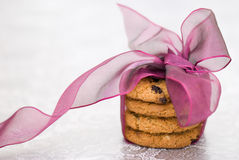Cookies tied with ribbon Stock Images