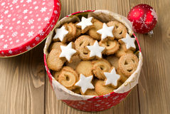 Cookies in a tin Royalty Free Stock Photo