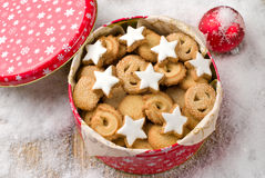 Cookies in a tin Stock Photography