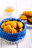 Cookies in a tin Stock Image
