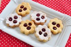 Cookies tradicionais de Linzer Imagens de Stock