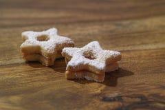 Cookies tradicionais de Linzer Imagens de Stock Royalty Free