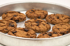 Cookies on a tray Royalty Free Stock Images