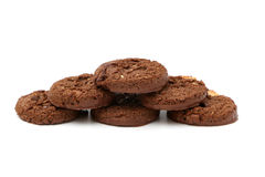 Cookies triplas do chocolate Imagens de Stock
