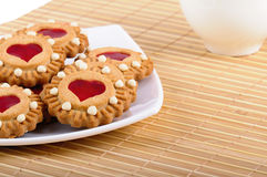Cookies Valentines And Cup Of Tea Royalty Free Stock Images