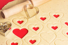 Cookies for Valentines Day Stock Images