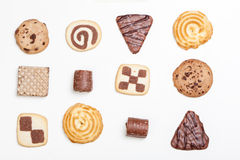Cookies variety, in different shapes and forms Stock Images
