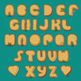 Cookies Vector Alphabet. Vintage style Royalty Free Stock Image