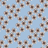 Cookies vector seamless pattern. sweet dessert food, background illustration. Royalty Free Stock Photography