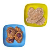 Cookies in Vibrant Bowls Royalty Free Stock Images