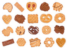 Cookies and wafers stock photo