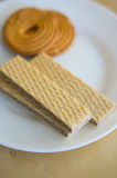 Cookies and wafers Royalty Free Stock Photo