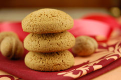Cookies and walnut Stock Image