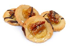 Cookies with walnuts royalty free stock image