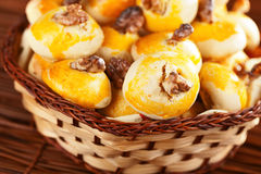 Cookies with walnuts Stock Images