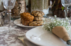 Cookies on the wedding table Royalty Free Stock Image