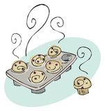 Cookies on white Royalty Free Stock Photography