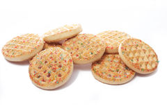 Cookies on white Stock Photography