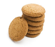 Cookies on white background Royalty Free Stock Image