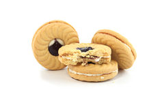 Cookies. On a white background Stock Photos