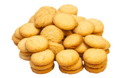 Cookies on white background Royalty Free Stock Photo
