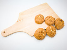 Cookies on white background Royalty Free Stock Photos