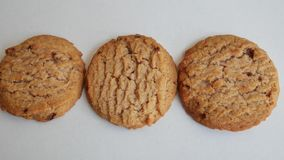 Cookies on white background stock video footage
