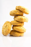 Cookies on a white background. Stock Photo
