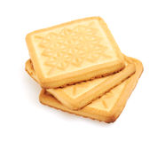 Cookies on white background Stock Photo