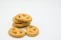 Cookies on white background. Stack of cookies on white background Stock Images