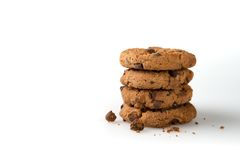 Cookies  on a White Background Stock Image