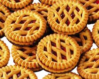 Cookies on white background stock images