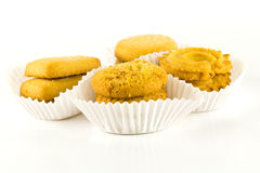 Cookies with white isolated Royalty Free Stock Photography