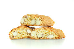 Cookies on white, italian sweets Stock Images