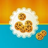 Cookies on a white napkin. Royalty Free Stock Photos
