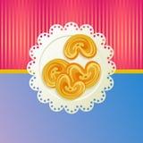 Cookies on a white napkin. Royalty Free Stock Photo