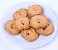 Cookies in the white plate Royalty Free Stock Image