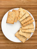 Cookies on white plate Royalty Free Stock Photo