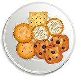 Cookies. On a white plate Stock Photos