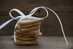 Cookies with white Ribbon Royalty Free Stock Photo