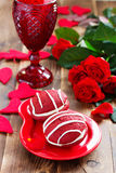 Cookies Whoopi red velvet Royalty Free Stock Images