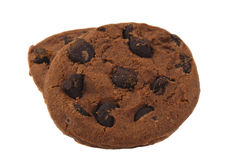 Cookies With Chocolate Drops Stock Photo