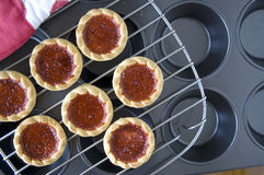 Cookies With Jam On Tray Royalty Free Stock Images