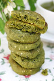 Cookies With Matcha Tea Stock Images