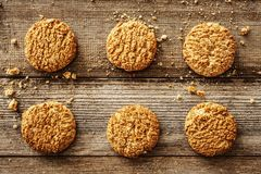 Cookies on the wooden background Stock Photography
